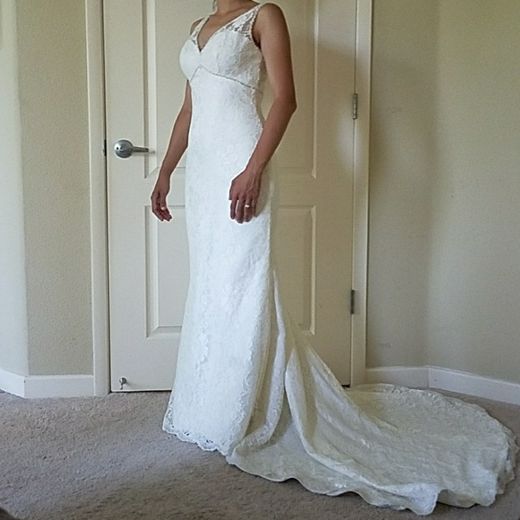Mori Lee Dresses | Lace Wedding Gown With Bustle | Poshmark